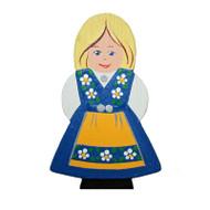 Magnet - Swedish Girl in Costume - Wooden (4851)