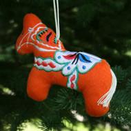 Dala Horse Plush Ornament (87511)