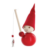 Tonttu Christmas Elf with Fishing Pole (B5521)