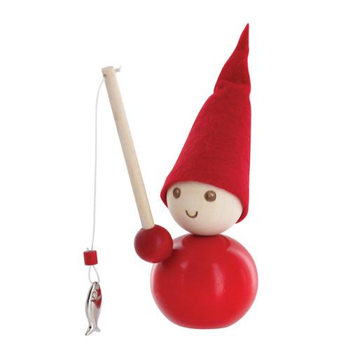 Tonttu Christmas Elf with Fishing Pole (B5521)