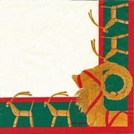 Julbock Luncheon Napkins - Ivory (115535)