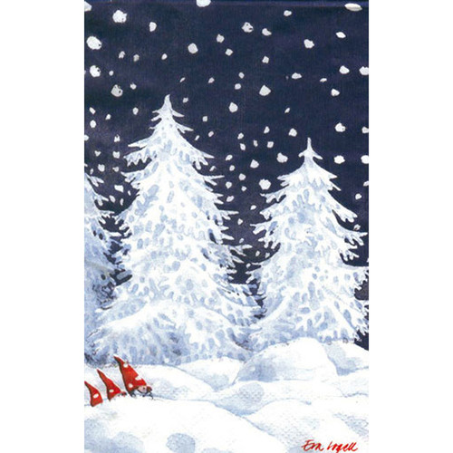 Tomtar in Snow Guest Towel Napkins (118000)