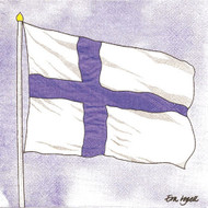 Finland Flag Luncheon Napkins (118819)