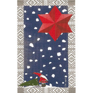 Tomte with Star Blue/Grey Guest Towel Napkins (119627)