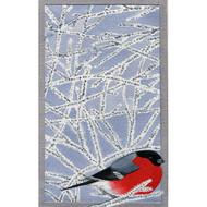 Domherre Bullfinch Guest Towel Napkins - Grey (119727)