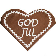 Pepparkakor God Jul Heart Shaped Napkins (122300)