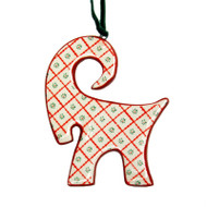 Julbok Ceramic Ornament - Set of 4 (10503)