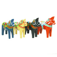 "Swedish Wooden Dala Horse - 4"" (SDH4)"