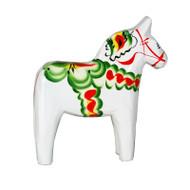 "Swedish Wooden Dala Horse - White - 4"" (SDH4WHT)"