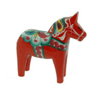 "Swedish Wooden Dala Horse - Red - 8"" (SDH8)"