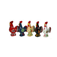 "Swedish Wooden Dala Rooster - 4"" (SDR4)"