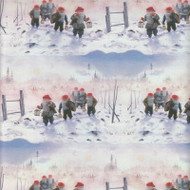 "Christmas Wrapping Paper - Hiking Tomtar - 23"" x 72"" (7726)"