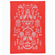 Dish Towel/Kitchen Towel - Folklore Red (7001372)