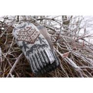 Wool Knit Mittens Yggdrasil (Yggdrasil)
