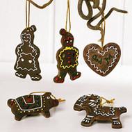 Pepparkakor Hanging Ornaments - Assorted 5 Pack (4955)