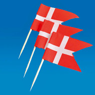 Denmark Flag Toothpicks - 50-pack (5531)