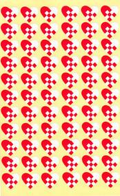 Heart/Basket Mini Stickers - 132-pack (5905)