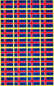 Iceland Flag Stickers - Pack of 72 (5934)