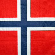 Norway Flag Paper Luncheon Napkins - 20 Pack (4055)
