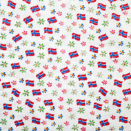Norway Flag & Floral Paper Luncheon Napkins - 20 Pack (40270)