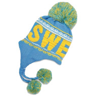 Sweden Knit Hat - Yellow/Blue - Unisex Size (N14E)