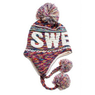 Sweden Knit Hat - Multi Color - Unisex Size (N14G)