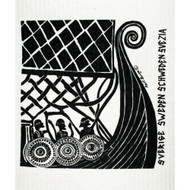 Swedish Dishcloth - Leif Eriksson Viking Ship (640007)