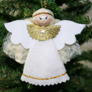 Angel Felt Ornament - White (80)