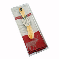 Moose Towel & Butterknife Gift Set - Red (346-02)