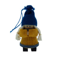 Swedish Girl Figure - Wooden Ornament (45739)