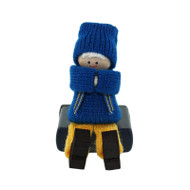 Swedish Boy Sitting Figure - Wooden (45740)