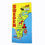 Sweden Map Beach Towel (50253)