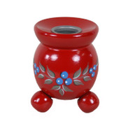 Swedish Candleholder - Red w/Blueberries (405RB)