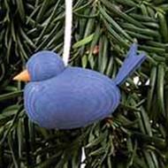 Blue Bird Wooden Tree Ornament (44182B)