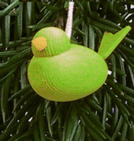 Spring Green Bird Wooden Tree Ornament (44182G)