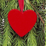 Red Heart Ornament - Wooden (44702R)