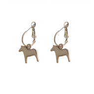 Dala Horse Round Earrings - Rose (62918)