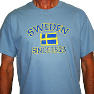Sweden Since 1523 T-Shirt - Stone Blue (SWST)