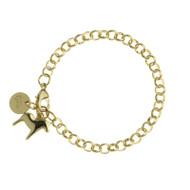 Dala Horse Charm Bracelet - Gold (62923)