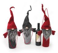Bottle Bag - Christmas Santa - Gray (BB852-2)