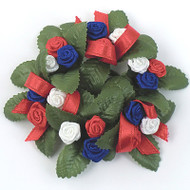 Candle Ring - Red/White/Blue Mini Rose (L245)