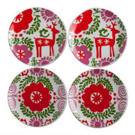 Nordic Holiday Tidbit Plate Set - 4 Pack (203831)