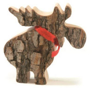 "Bark Moose with Scarf - 4"" (4357)"
