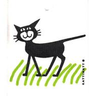 Swedish Dishcloth - Cat in the Grass (56101)
