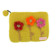 Felt Coin Purse - Knit Flowers (843261)