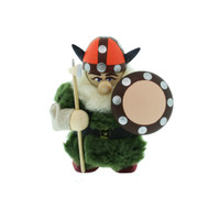 Viking w/Ax and Shield in Fur Coat - 4 3/4 inch Tall - Wooden (38-1309)