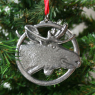 Norwegian Pewter Ornament - Moose (78-3112)
