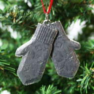 Norwegian Pewter Ornament - Mittens (78-3162)