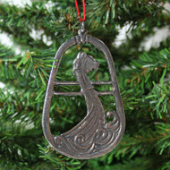 Norwegian Pewter Ornament - Viking Ship (78-3185)