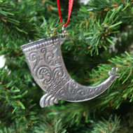 Norwegian Pewter Ornament - Drinking Horn (78-3203)